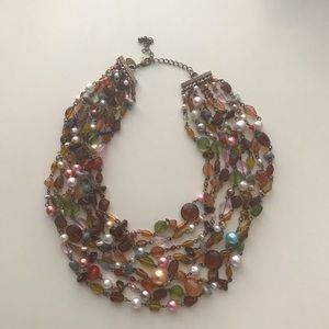 Lia Sophia Beaumont Beaded Bib Necklace